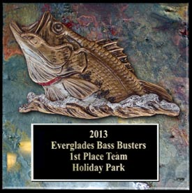 sculpted bass fishing trophies & awards